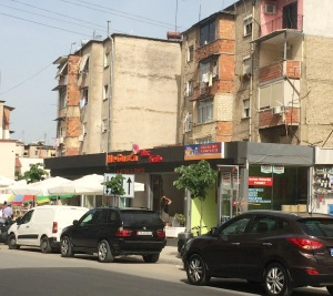 "Here is what ""Communist-era apartment building"" means in Albania. My street is full of these, as is the rest of Tirana."