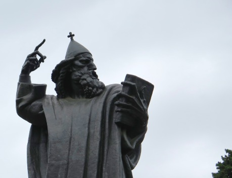 Just outside the city walls: Gregory of Nin, a medieval bishop. The statue is by a famous Croatian sculptor, Ivan Mestrovic.