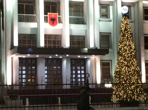 President's House decorated for Christmas