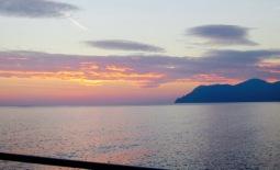 Sunset over Manarola.