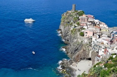 Vernazza from above, which is probably the best way to experience it!