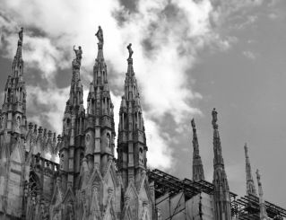 The Duomo, with 135 spires, took centuries to complete -- construction started in the late 1300s and continued until well into the 1900s.