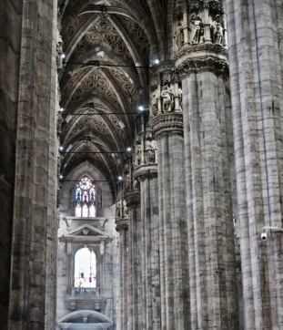 This picture of the Duomo's nave doesn't come close to capturing the magnitude of the interior.