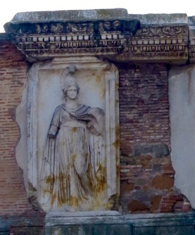 A temple dedicated to Minerva (Athena)