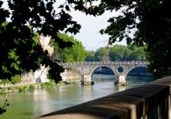 One of the bridges across the Tiber
