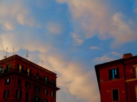 Dusk in Trastevere.