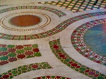 The mosaic floor of the church of Santa Maria in Trastevere.